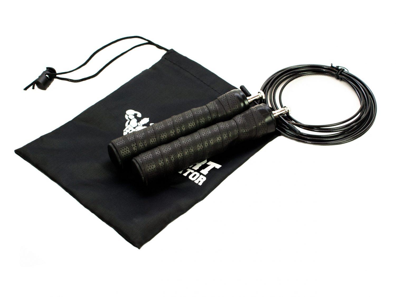Швидкісна скакалка чорна для фітнесу, боксу і кроссфіта