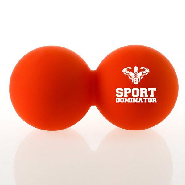 Подвійний масажний м'яч SportDominator для міофасциального релизу помаранчевий