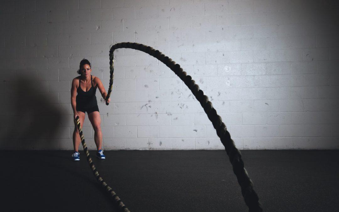 Упражнения с канатами