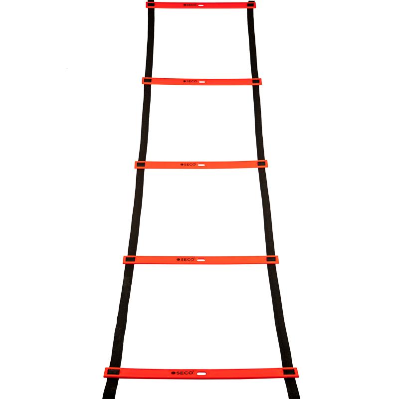 Тренувальна сходи координаційна для бігу 12 ступенів 6 м оранжевого кольору