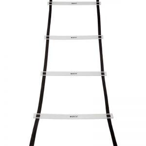 Тренировочная лестница координационная для бега ступеней 8 м белого цвета