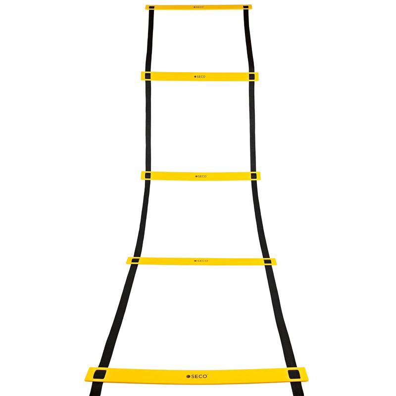 Тренировочная лестница координационная для бега 8 ступеней 4 м желтого цвета