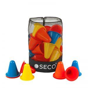 Набір конусів для тренувань 8 см 4 кольори з сумкою (40 штук)