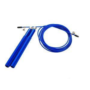 Скоростная скакалка синяя для фитнеса, бокса и кроссфита