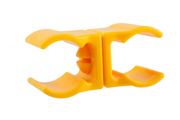 Клипса для слаломной стойки желтого цвета