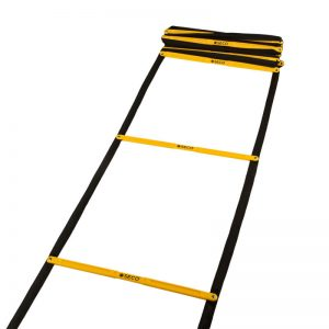 Тренувальна сходи координаційна для бігу складна 12 ступенів 5,1 м жовтого кольору