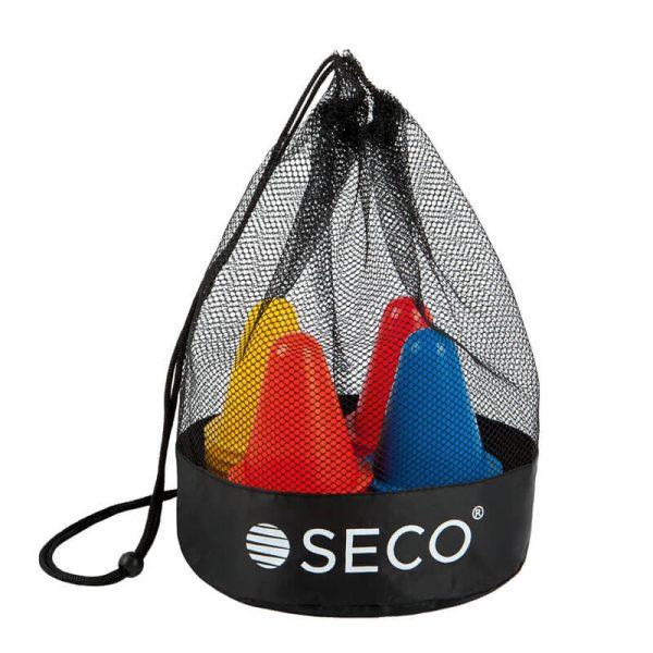 Набор конусов для тренировок 8 см 4 цвета с сумкой (40 штук)