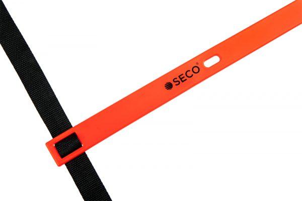 Тренировочная лестница координационная для бега 12 ступеней 6 м оранжевого цвета