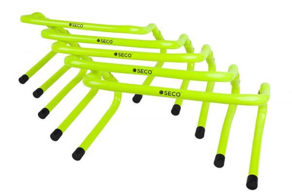 Набор тренировочных барьеров для бега 15-33 см (5 шт)