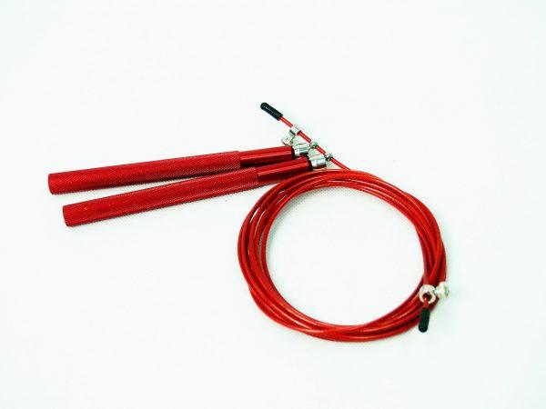 Скоростная скакалка на подшипниках с алюминиевой рукояткой JR036