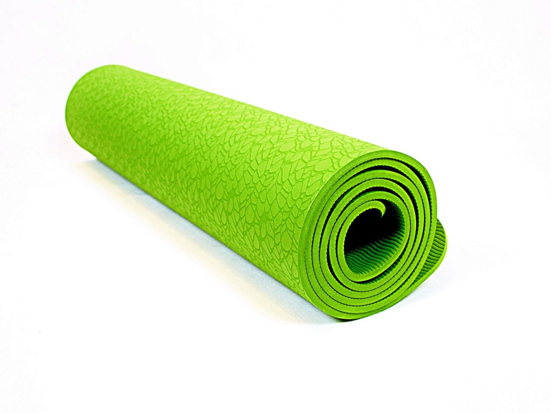 Мат (коврик) для йоги и фитнеса TPE+TC 6мм