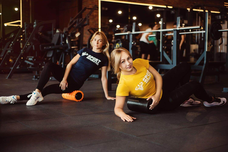 Массажный ролик для фитнеса и йоги
