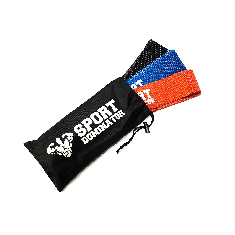 Текстильные фитнес резинки SportDominator®
