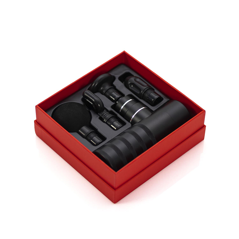 Алюмінієвий масажний пістолет для міофасціального релізу чорний